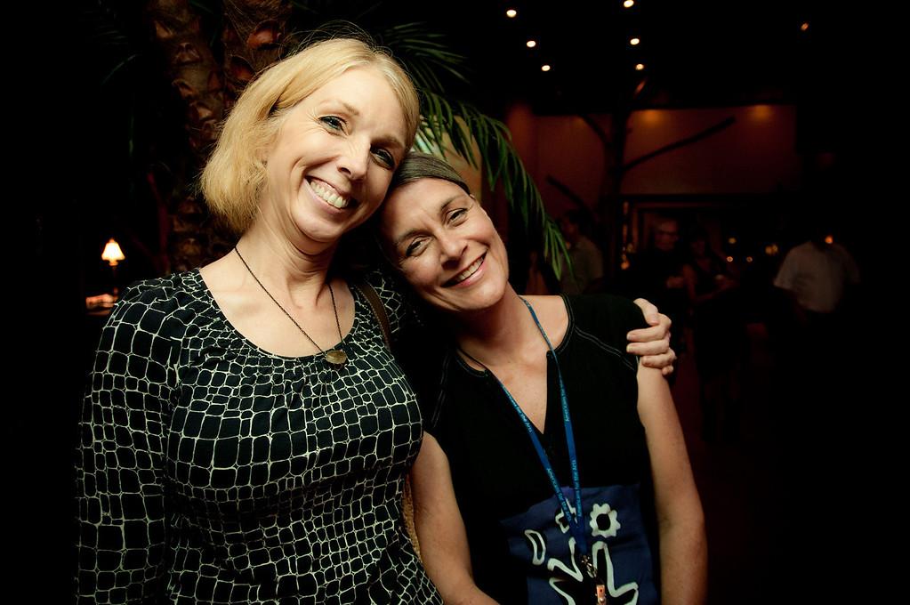 ARTreach Development Director, Christine Stilwell and Terri Bieber, Executive Director