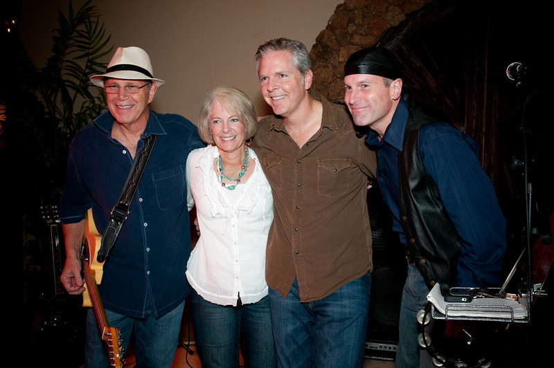 Michael Clay, far left, ARTreach's State Art Partner and founder of the Texas Music Project, pictured with family and band members