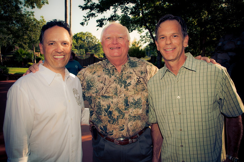 Steve Livingston of Agave Road, City of Katy Mayor Don Elder, and Shelton Craig, founder and developer of Agave Road in Katy