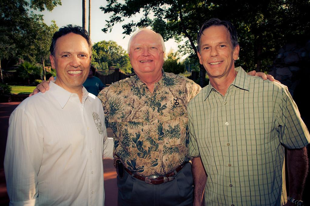 Steve Livingston of Agave Road, City of Katy Mayor Don Elder, and Shelton Craig, founder and developer of Agave Road in Katy