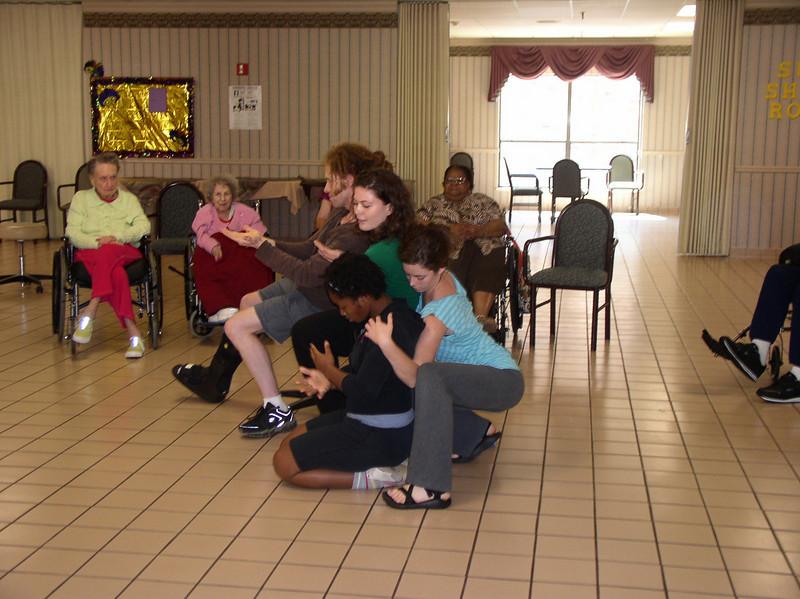 "Several Dancers Core visit the Oakmont Senior Center in Katy- Sharing ""Elder Stories"""