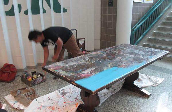 Mayde Creek High School Graffiti Art Demo