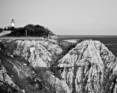 Montauk Lighthouse in Black and White