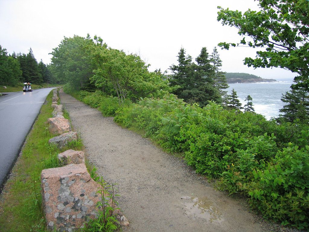 12 Road and Sidewalk at Thunder Hole