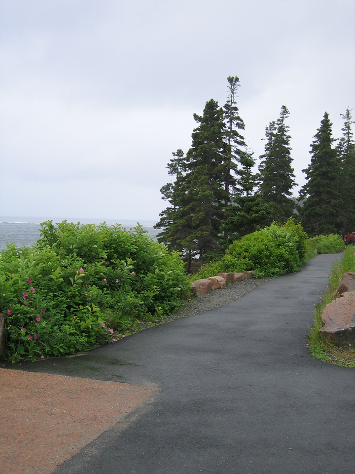 19 Sidewalk at Thunder Hole with Walkway to the Hole