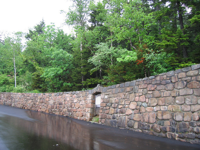 52 Rock Wall and Road Near Boat Access