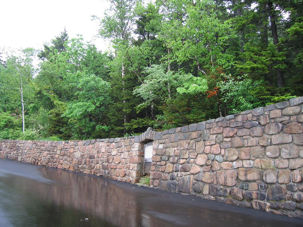 52 Rock Wall and Road Near Boat Access