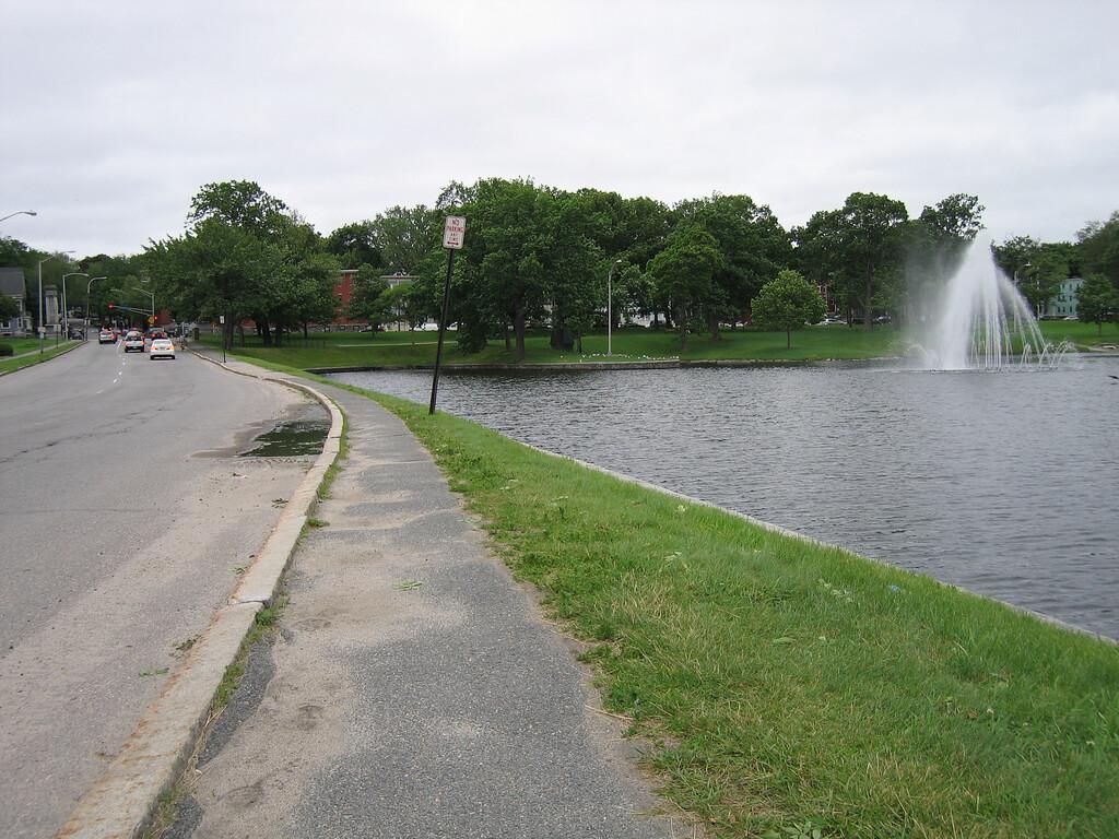 14 Sidewalk and Fountain II