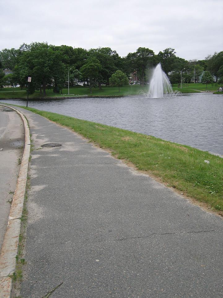 12 Sidewalk and Fountain