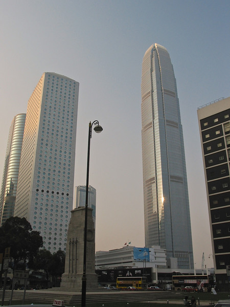 A prominent landmark in Hong Kong is the International Financial Center Tower 2.  It is the second tallest building in Hong Kong, behind the International Commerce Centre in West Kowloon. It is the fourth-tallest building in the Greater China region and the eighth-tallest office building in the world, based on structural heights. It is of similar height to the former World Trade Center. The Airport Express Hong Kong Station is directly beneath it.