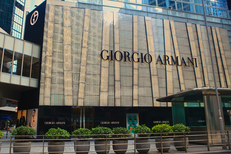 Central Hong Kong is filled with many high end retailers that have many branches throughout the city.