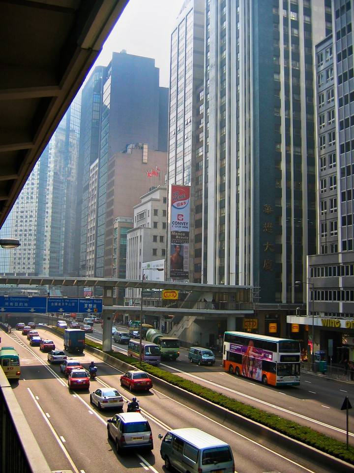 Smog in Hong Kong can be an issue on hot days.