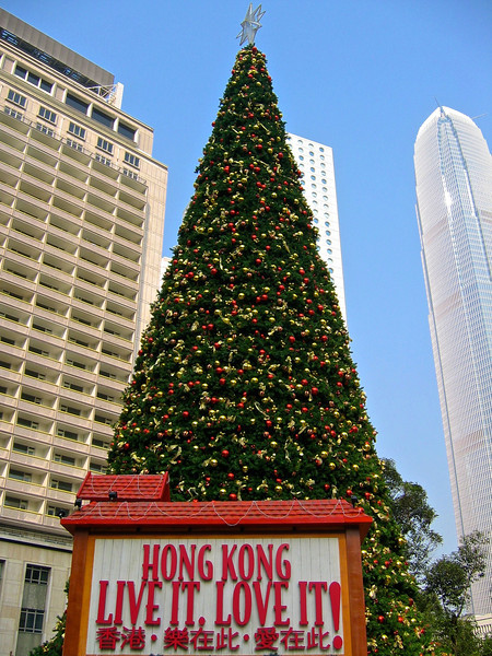 If you're ever in Hong Kong during the Christmas holiday, the city goes all out with decorations everywhere.