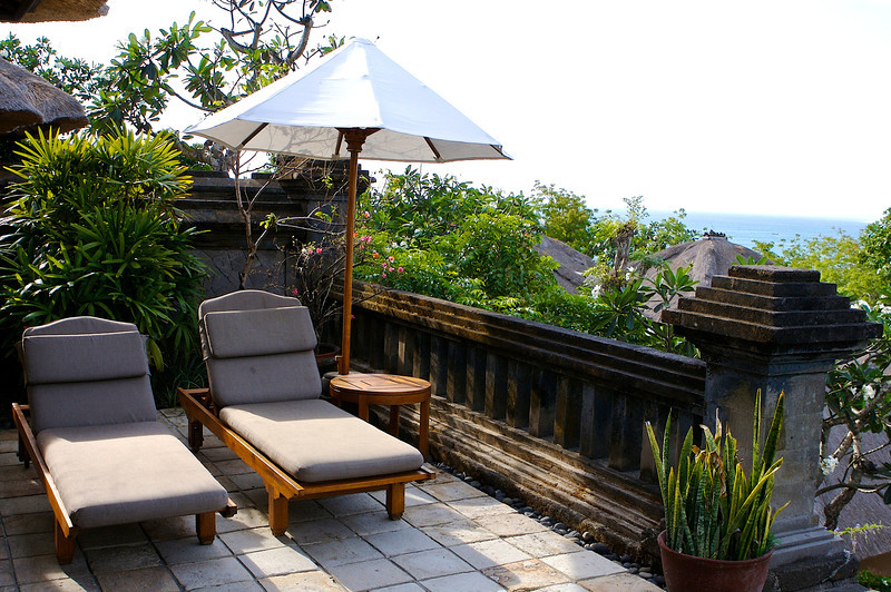 All of the villas have a small sun deck and most have views of the Bali Sea.