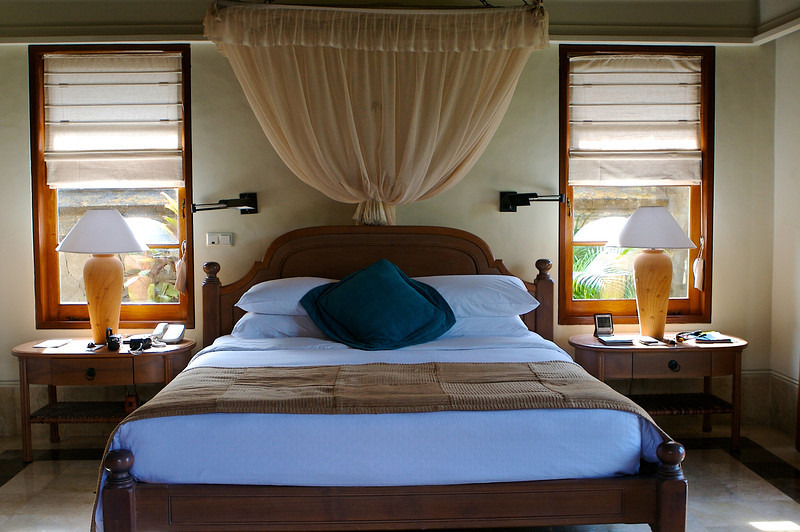 Bedrooms in the villa are large and each has double doors facing your own private plunge pool.