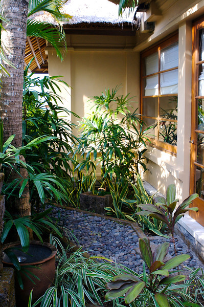 ..in it's own private courtyard.