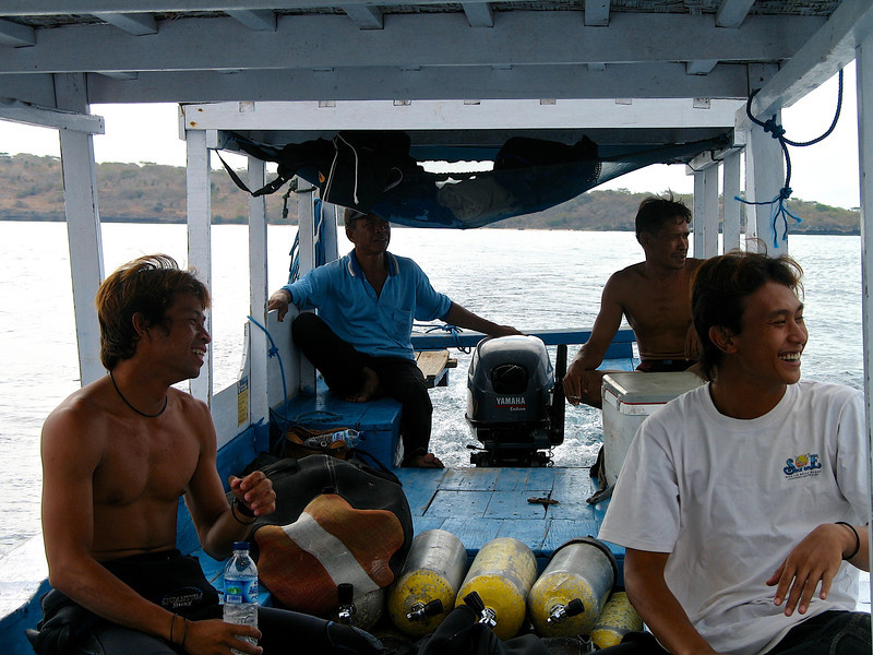 We head out for a half day dive off the north coast of Bali.