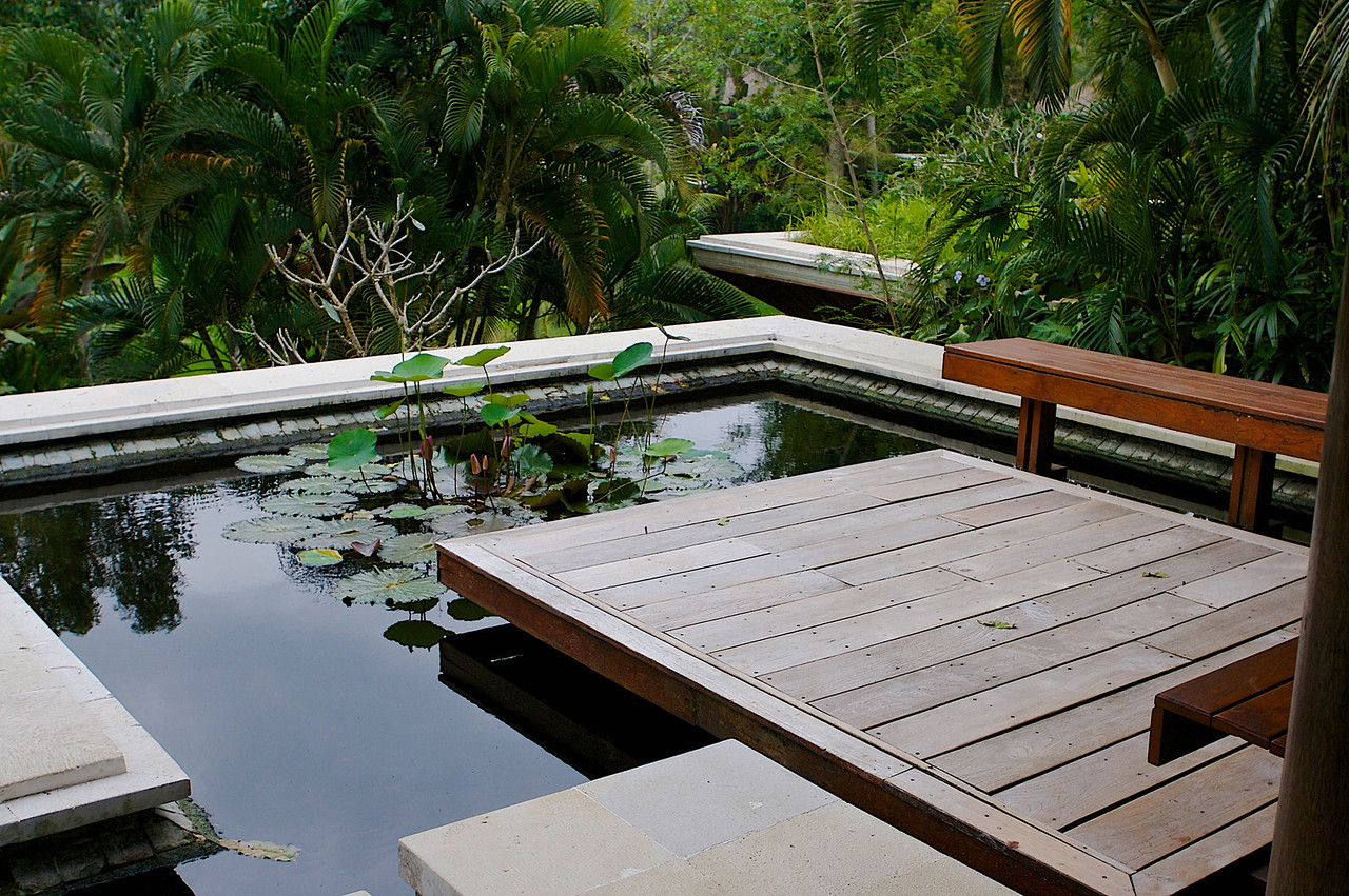 Similar to the main hotel, you enter through the top, with the villa sitting underneath the lily pond.