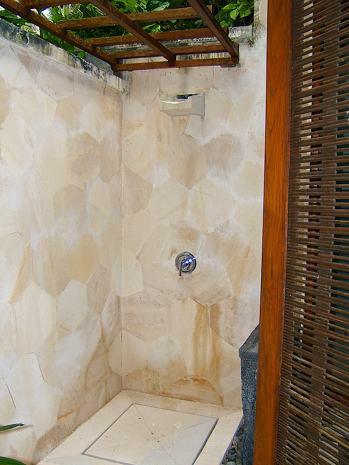 There's also an outdoor shower.