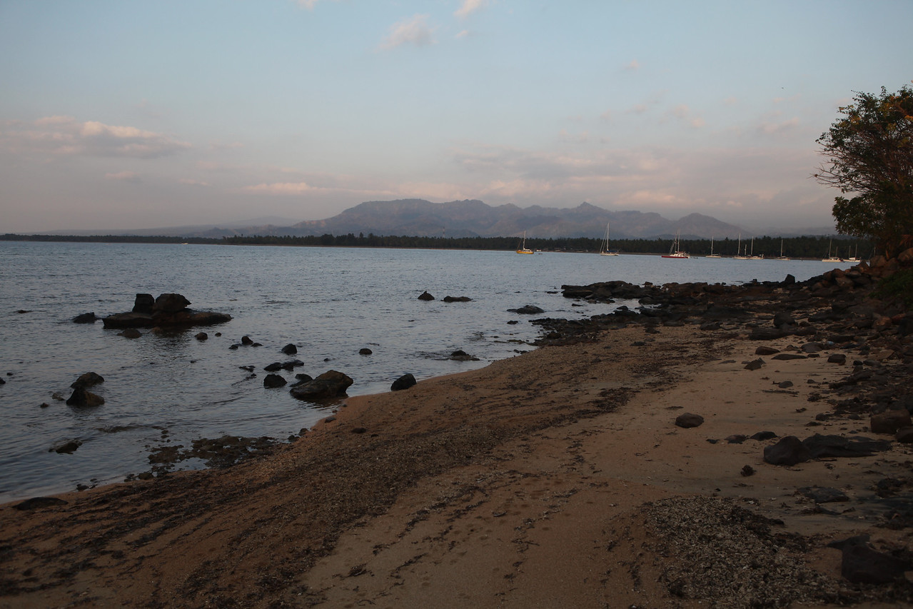 At low tide, you can see the small beach in front of the hotel.