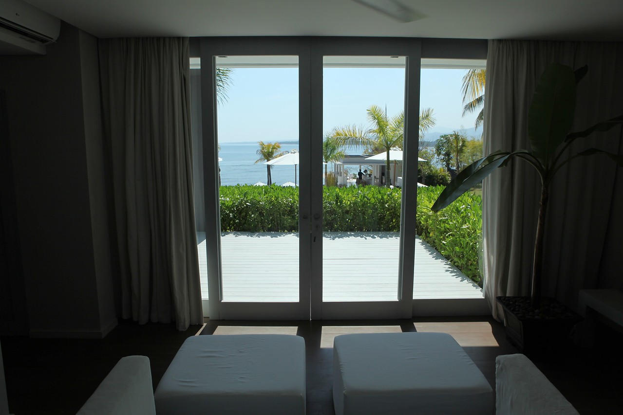 Great views from the room with doors that lead out onto the large deck.