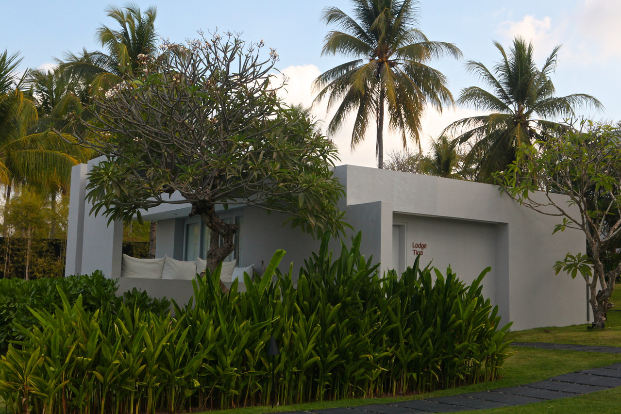 """Most of the 9 rooms at Lombok Lodge are """"semi-independant"""" villas.  Most have direct, unimpeded views of the ocean."""