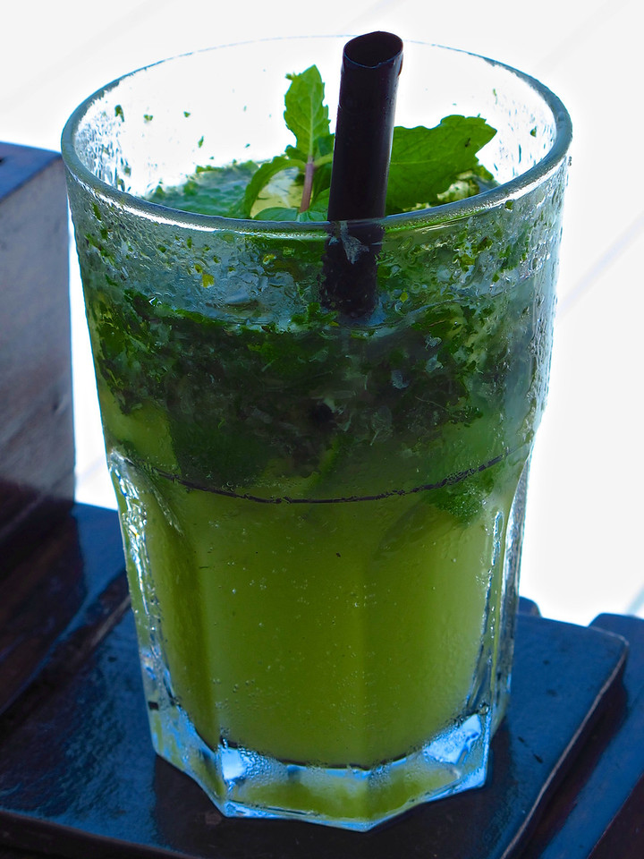 …and if you get tired of being in the water, there's always a mojito waiting at your chair.