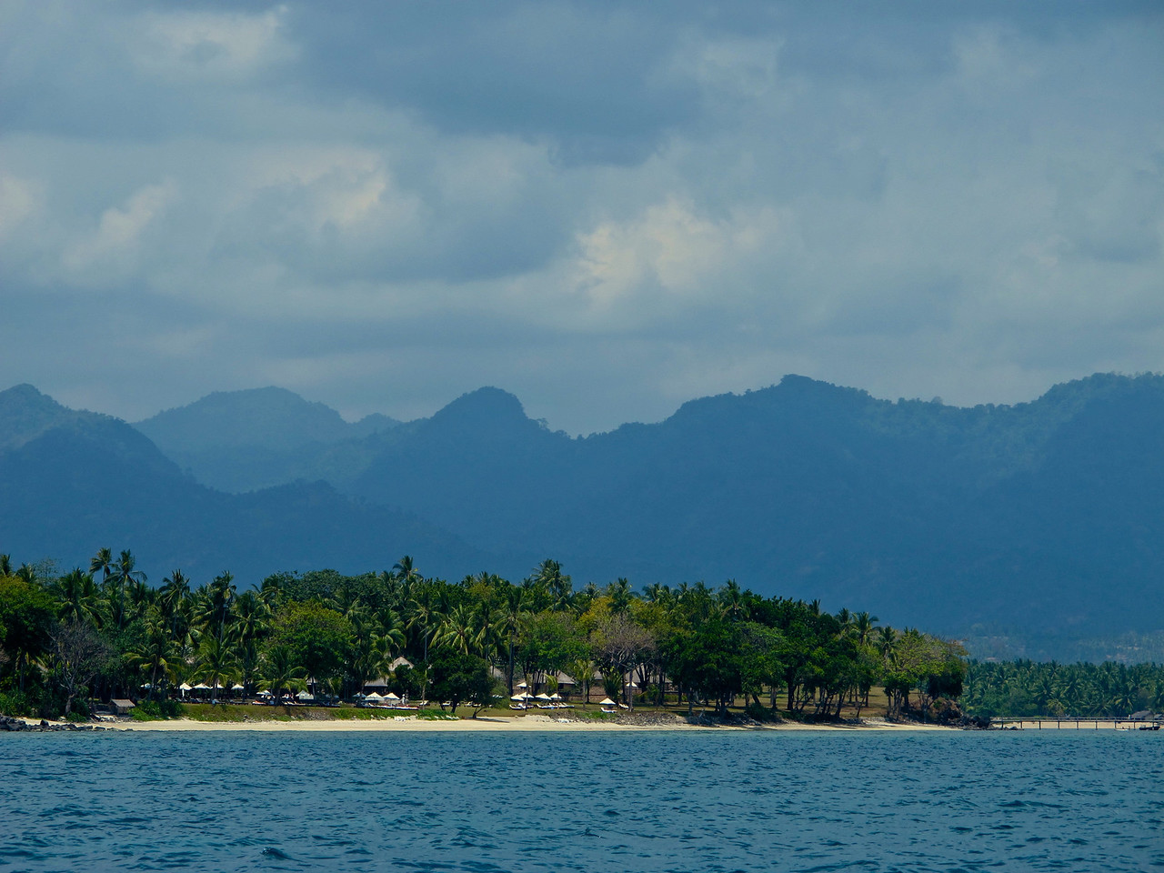 We pass past Gili Air, the first of the three islands on our way to Terwangen.  You can see the mountains of Lombok in the background.