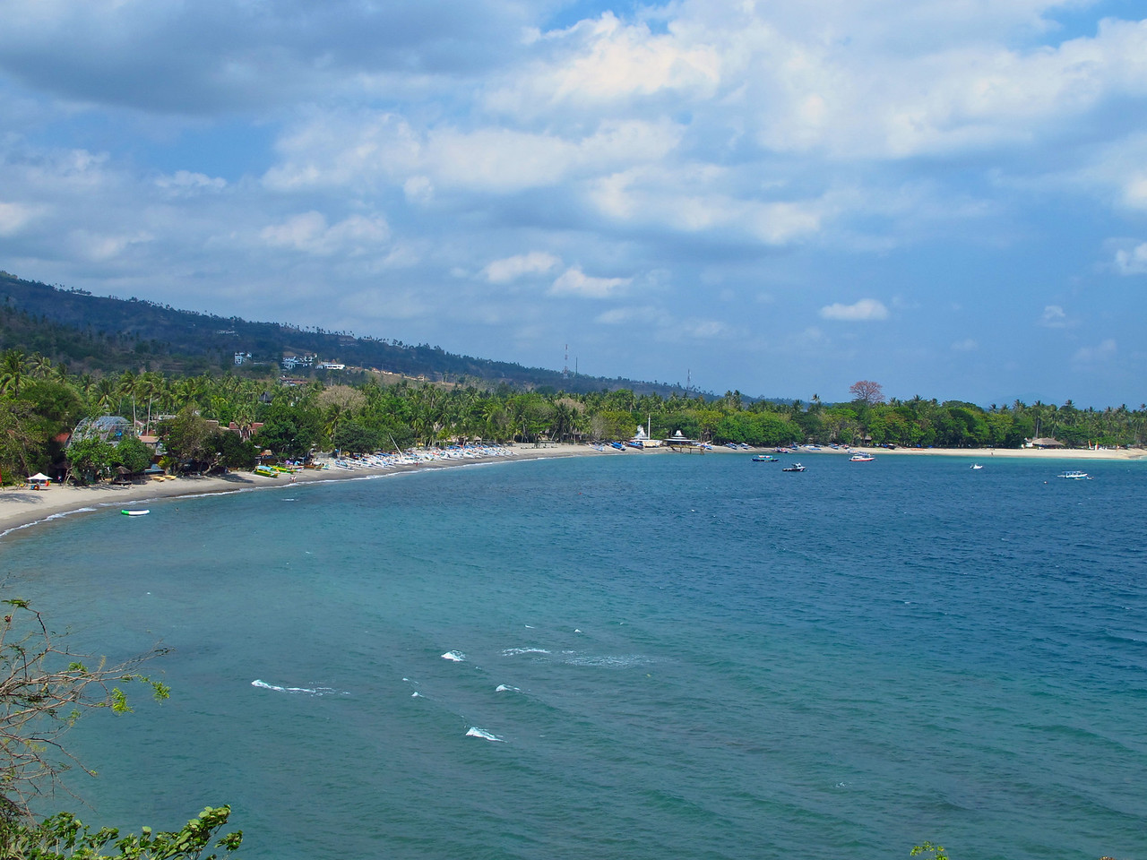 A look at Senggigi from the hillside outside of town.