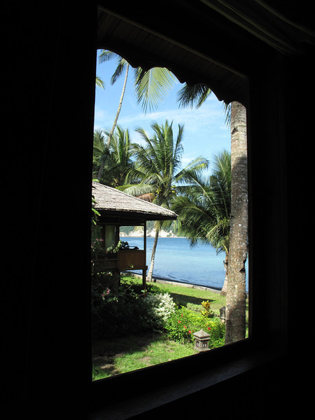A look out our window towards the water.