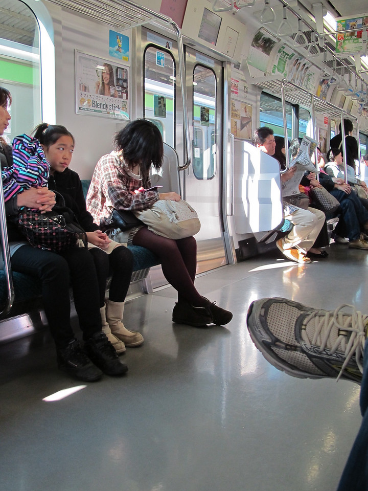 The subway and train cars are spotless, which is amazing considering the number of people that travel it each day.  Most people find it a great place to take a nap.