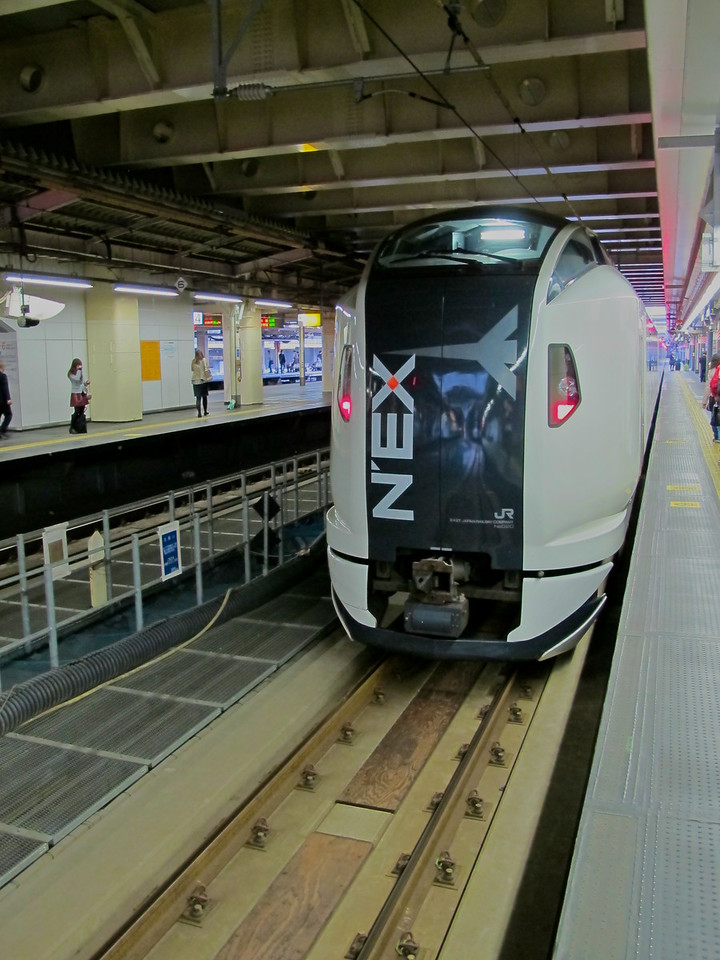 The Narita Express train makes just 2-3 stops between the airport and Tokyo.