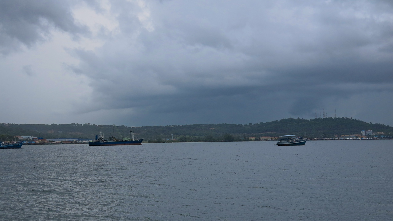 A look at Sihanoukville from across the bay.