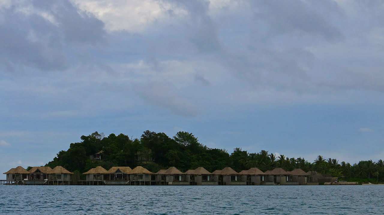 These are the overwater villas that face the island of Koh Rong across the strait.