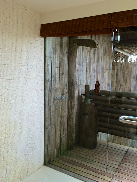 ..there's also an outdoor shower...
