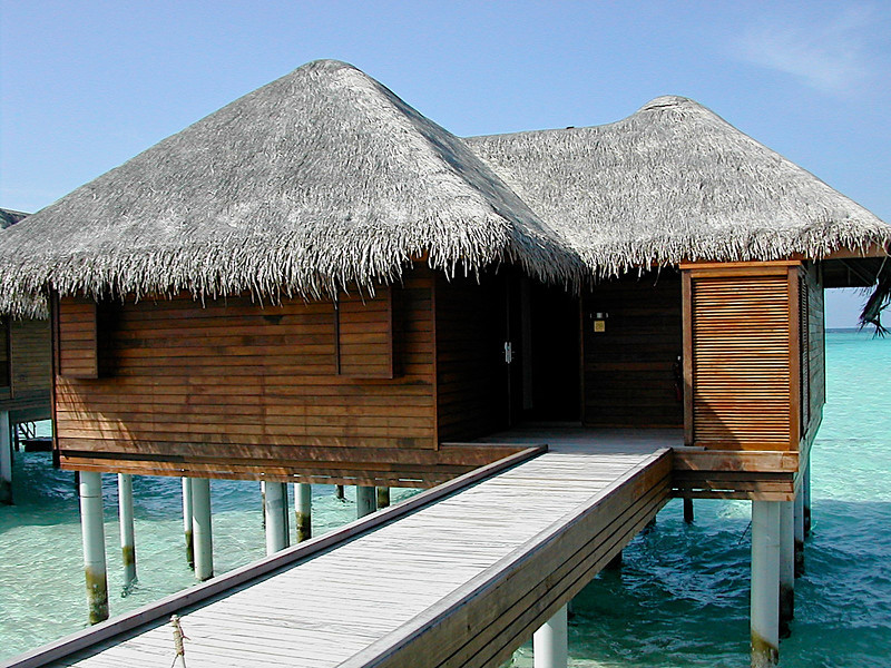 Rooms over water looks small from the outside, but are spacious on the inside.