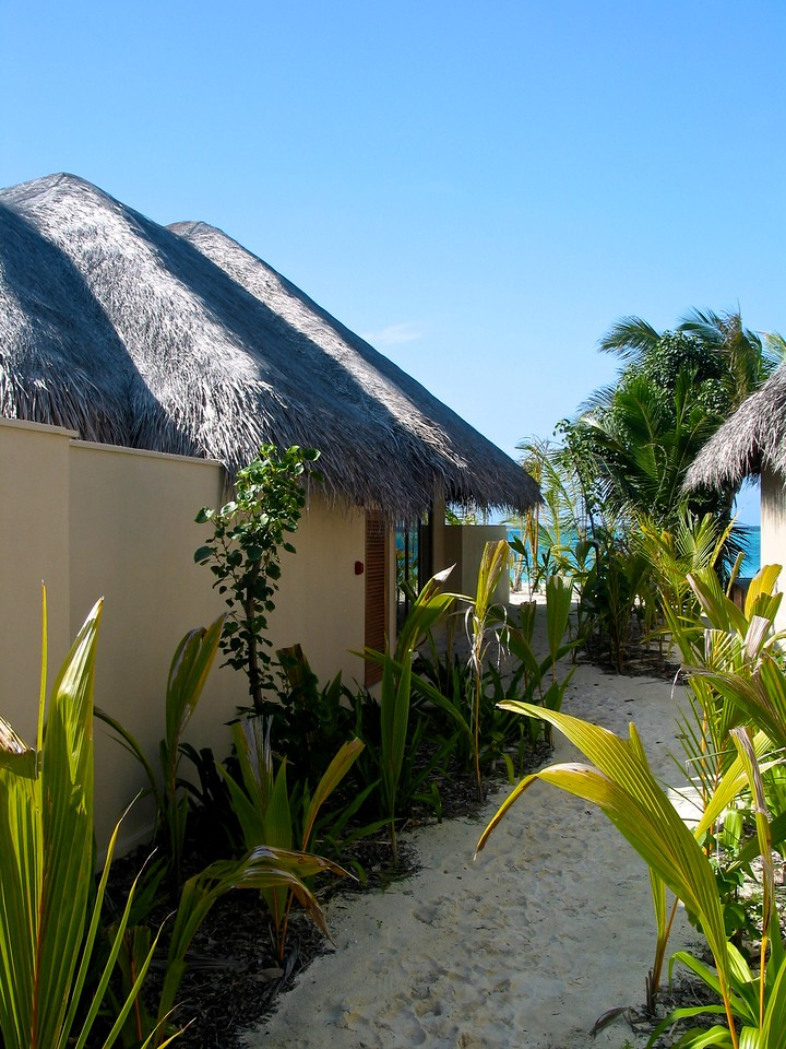 During our stay, some of us stayed in a beachfront bungalow.