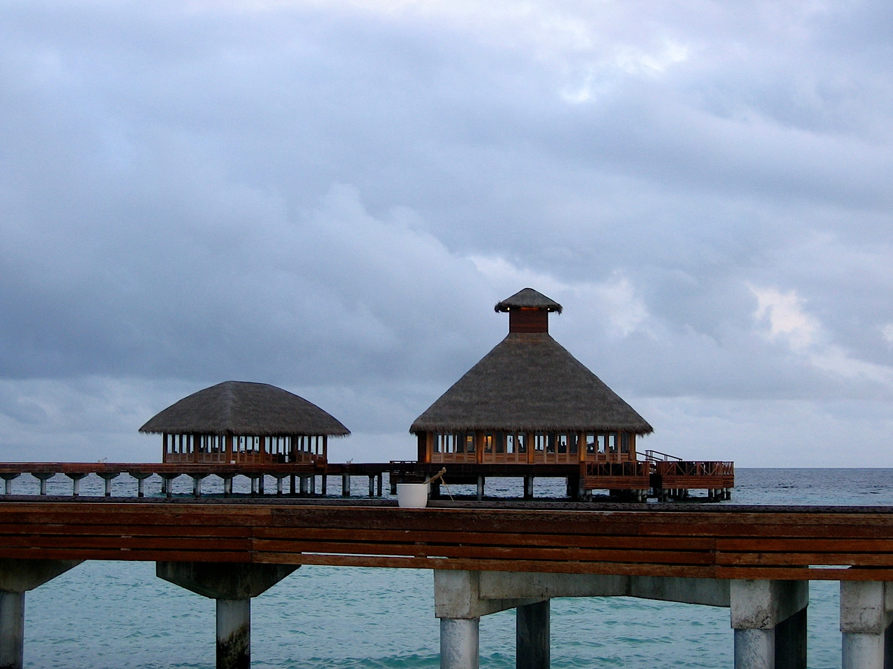 The spa also has it's own restaurant at the other end of the jetty.
