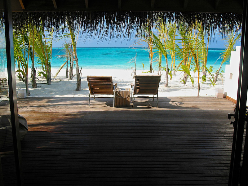 Every morning you can wake up to the serene blue waters of the Indian Ocean.