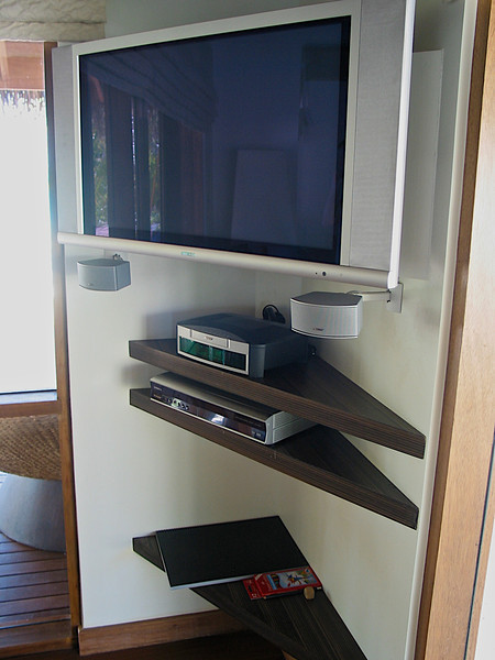 There's also a large flat screen TV with Bose surround.