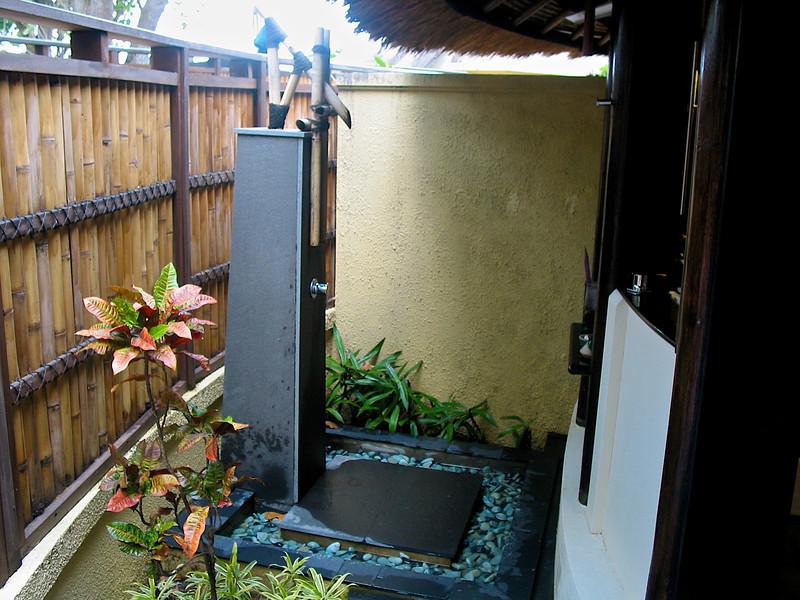 …outdoor showers.