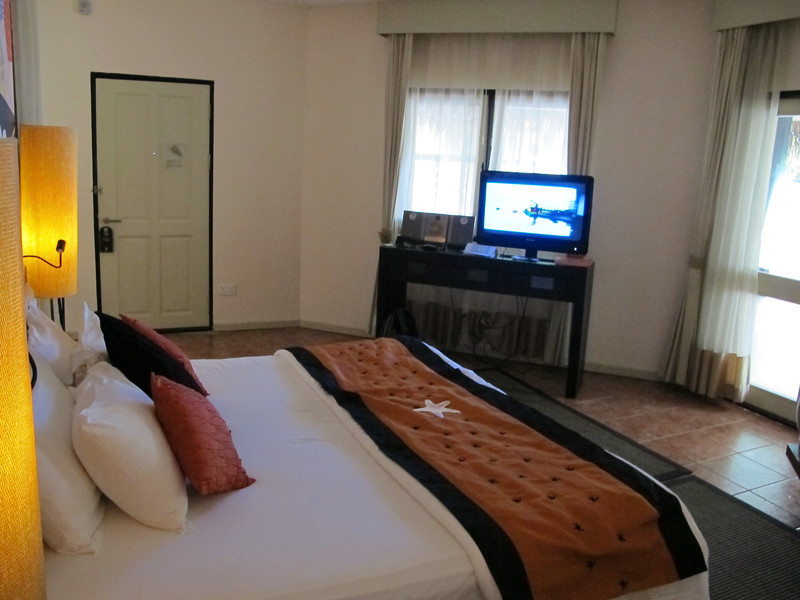 Each villa is very spacious.  TV, CD player and wi-fi are available in each.