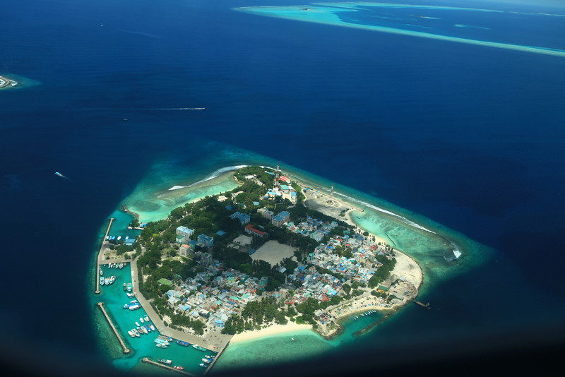 The President of the Maldives has a house a small island just 5 minutes from Male.