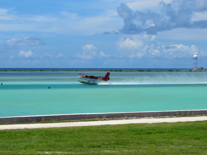 Across from the main airport, there's also a seaplane port that provides transportation to the outlying islands.