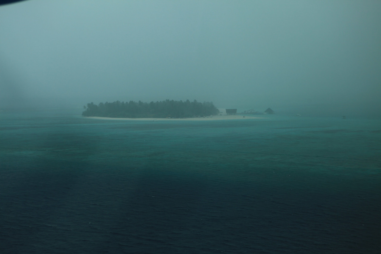 In the additional five minutes it took to reach our island, a heavy thunderstorm rolled in.