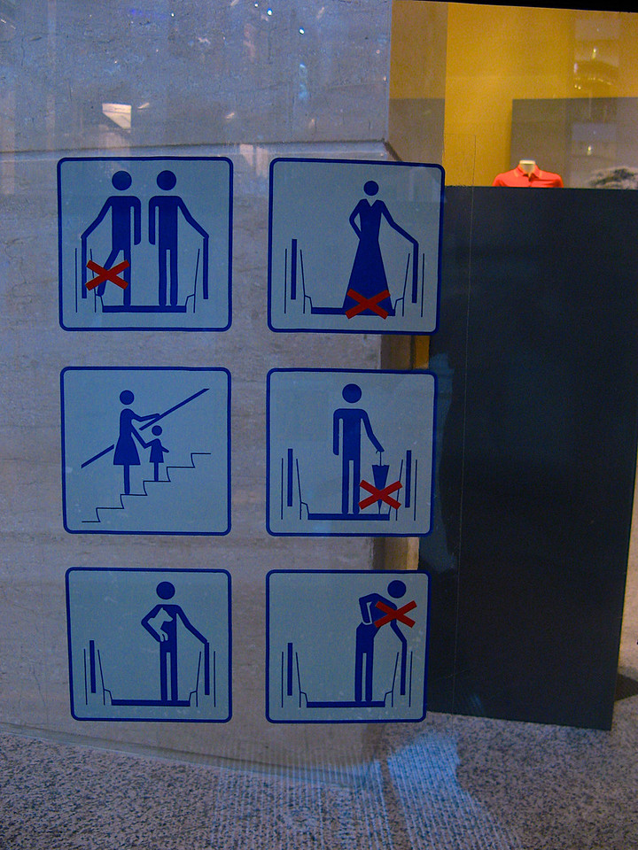 You always see some interesting pictogram signage in foreign countries.