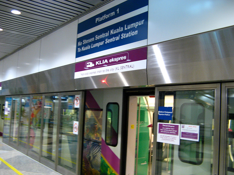 The KLIA Express Train runs from the airport to downtown KL in less than 30 minutes.