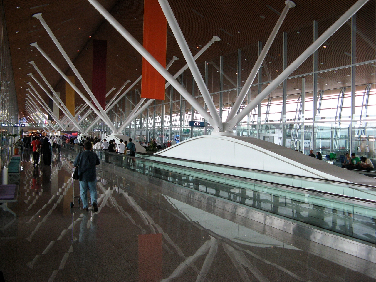 The KL airport sits about 35 minutes outside of the city itself.