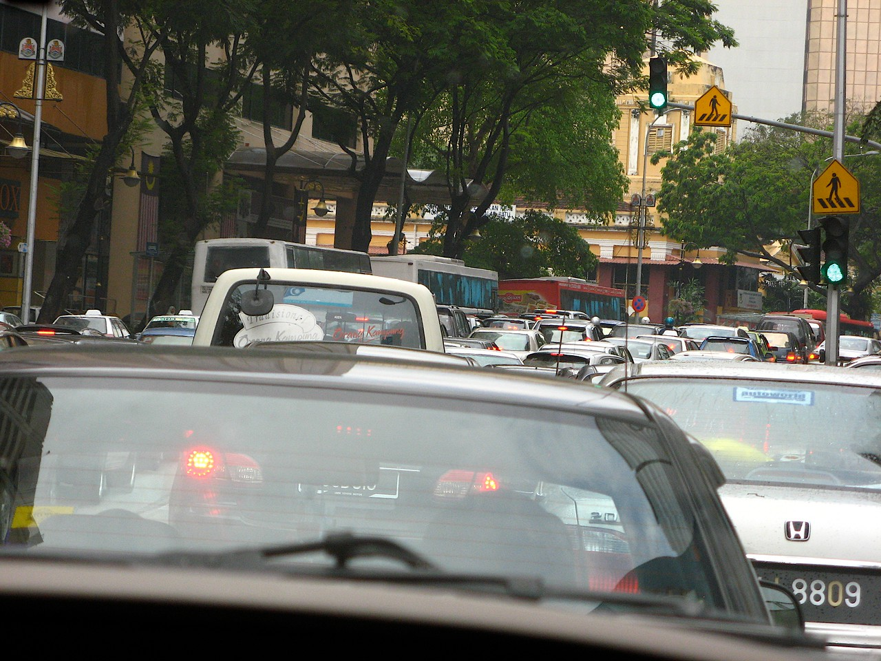 Traffic in KL is similar to LA or Manhattan…you're not going to get anywhere quickly at peak times of the day.