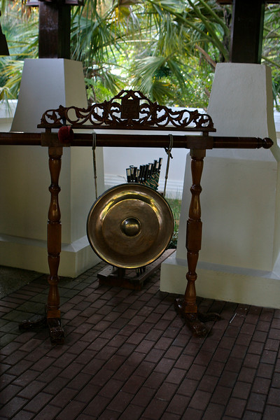 Whenever a new guest arrives, the resort sounds the gong.